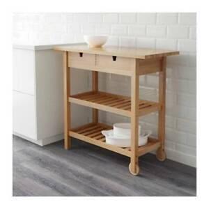 NEW CONDITION IKEA  FÖRHÖJA Kitchen trolley, birch $179