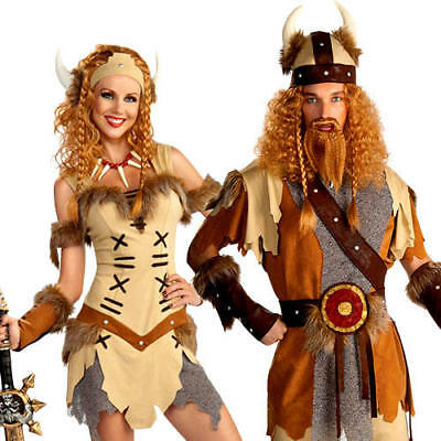 Viking Princess or Warrior Adults Fancy Dress Medieval Book Day Week Costume New](Female Viking Warrior Costume)