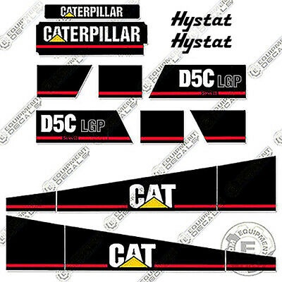 Caterpillar D5C LGP Series III Dozer Decal Kit Equipment Decals Series 3, used for sale  Shipping to Canada
