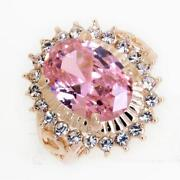 Yellow Gold Pink Topaz Ring