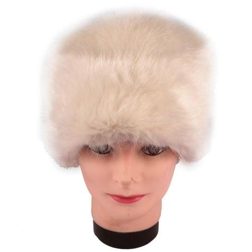 Moore & Moore Women's Ermine Faux Fur Pillbox Hat