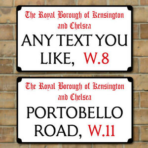 Old-London-Street-Sign-Metal-Road-Sign-Plaque-Personalised-any-text-you-like