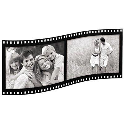 Hama Portraitrahmen Fotorahmen Filmstrip schwarz Acryl zwei 10x15 Rahmen Bilder