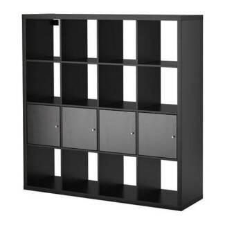Shelving Unit w/4x Insert Doors - Book Shelf or Storage