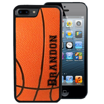 PERSONALIZED BASKETBALL RUBBER CASE FOR iPHONE XR XS MAX X 8 7 6 PLUS SPORTS - Personalized Basketball