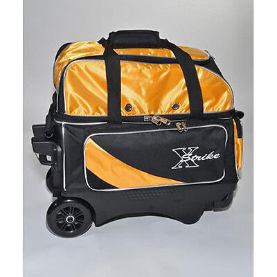 XSTRIKE 2 BALL DELUXE ROLLER BOWLING  BAG BK/GOLD SALE PRICE $ 48.95