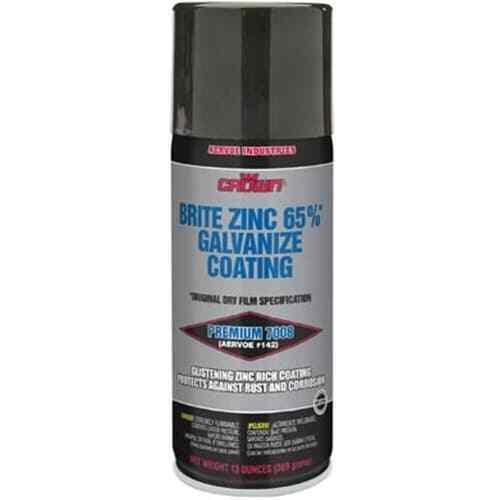 Aervoe 7008 13-Ounce 65% Zinc-Rich Brite Galvanize Coating Aerosol Spray