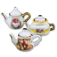 Reutter Porzellan 3 Teteras/3 Tea Macetas De Casa De Muñecas 1:12 Art. 1.360/8 -  - ebay.es