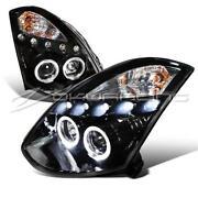 G35 Coupe Black Headlights