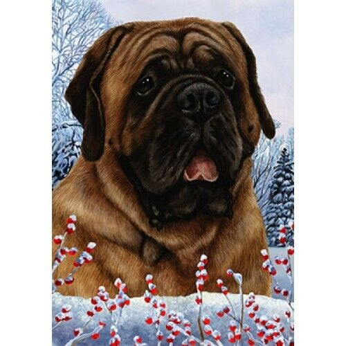 Winter Garden Flag - Red Mastiff 152761