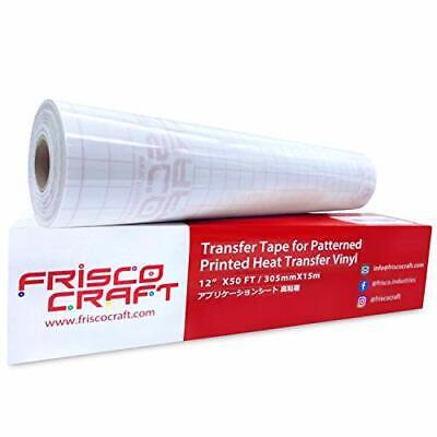 Transfer Tape For Heat Transfer Vinyl - Iron On Transfer Paper - 12 X 50ft New