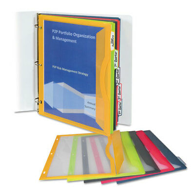 Binder Pocket With Write-on Index Tabs 9 1116 X 11 316 Assorted 5set