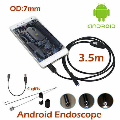 Waterproof 7mm 6led Android Endoscope Borescope Snake Inspection Camera Fy