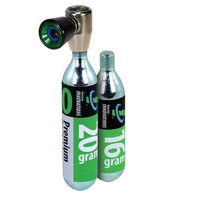 Genuine Innovations Air Chuck Elite Co2 Inflator Kit w/ 16g & 20g Cartridges