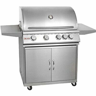 Blaze 32-Inch 4-Burner Freestanding Propane Grill With Rear Infrared Burner