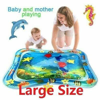 Inflatable Baby Water Mat Novelty Fish Play Game pad for Kids Infants Tummy Time
