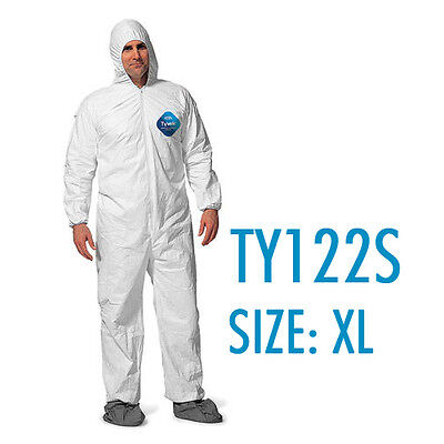 Dupont Tyvek Coverall Bunny Suite With Hood And Boots - Ty122s Xl