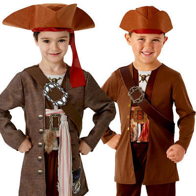 Pirates of the Caribbean Jack Sparrow Boys Fancy Dress Childrens Kid Costume - Boys Jack Sparrow Costume