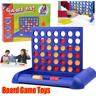 Connect Four In A Row 4 In A Line Board Game Fun Educational Toys Family Travel