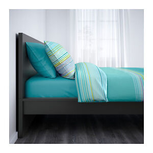 Metal Bed Frame with Ikea Malm Head Board