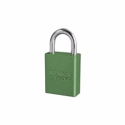 One American Series A1105 1-12 Aluminum Body Green Padlock