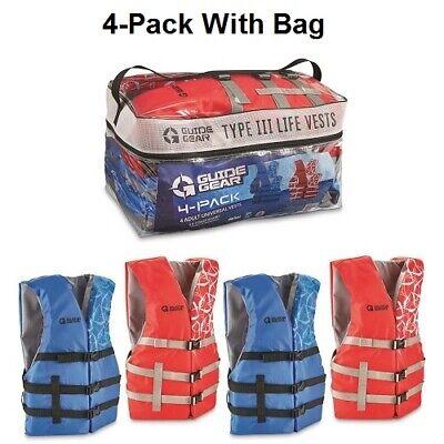 L//XL NWT X20 Adult US Coast Guard Approved PDF Life Jacket Vest Red