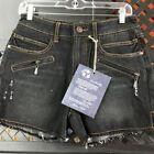 Denim Mini Shorts Size Black Shorts for Women