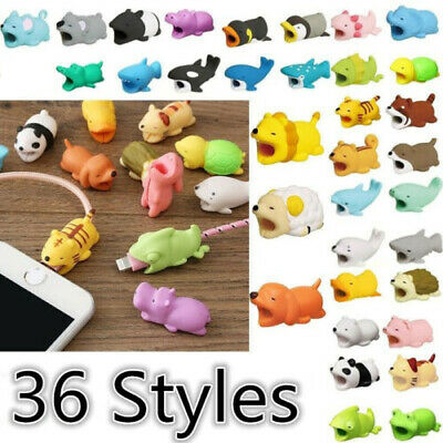 New Cartoon Animal Cable Bite Cute Phone Charger Protector Soft Cord -