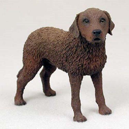 CHESSIE Dog HAND PAINTED FIGURINE Resin Statue puppy CHESAPEAKE BAY RETRIEVER