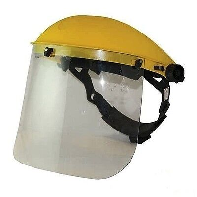 Silverline Face Shield Clear Visor Safety Workwear Eye Protection Flip Up 140863