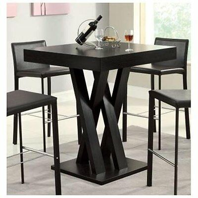 Square Dinette Table - Square Bar Table Room Kitchen Pub Dining Furniture Bistro Dinette Counter Height