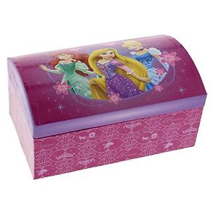 GIRLS DISNEY PRINCESS RAPUNZEL CINDERELLA ARIEL JEWELLERY TRINKET JEWELLERY BOX