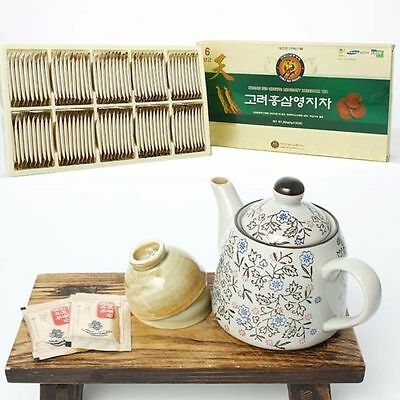 3g X 100bags(300g), Red Ginseng + Reishi Mushroom Powdered Tea_Korean Lingzhi