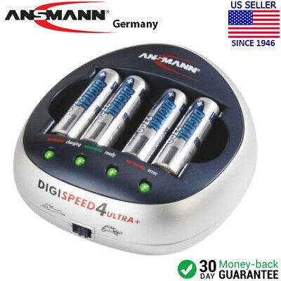 Ansmann DigiSpeed 4 Ultra + High Speed Battery Charger w/ 4 AA 2850mAh Batteries ()