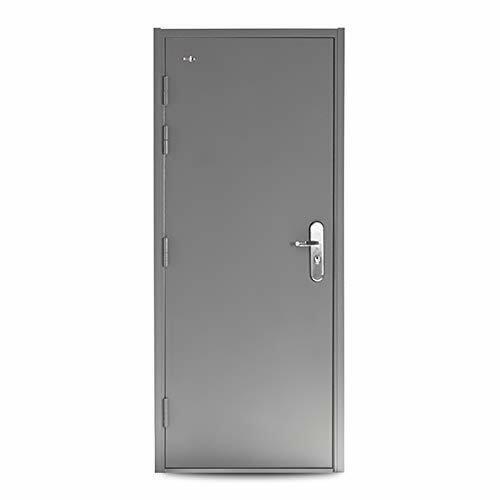 "VIZ-PRO Quick Mount Steel Security Door with Frame and Hardware, Gray 36"""