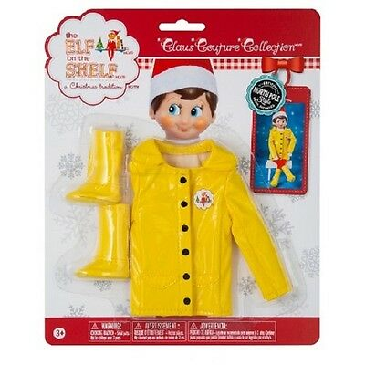 The Elf on the Shelf Couture: Rain Coat for Girl or Boy Elf- NIP](Elf On The Shelf Girls)