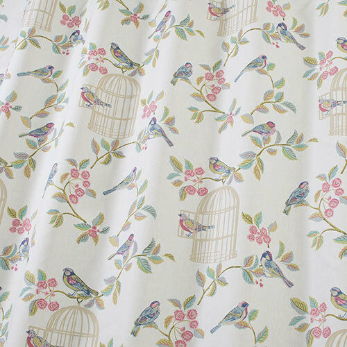 Iliv scandi birds 100 cotton childrens curtain upholstery for Children s upholstery fabric