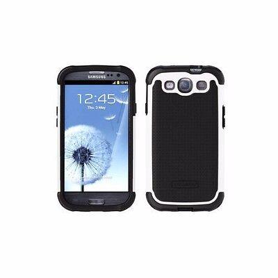 Ballistic Shell Gel SG Hard Shell Case For Samsung Galaxy S3 Black/White - NEW Sg Shell Gel