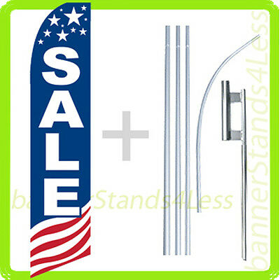 Sale Swooper Flag Kit Feather Flutter Banner Sign 15 Tall - Usa Bb