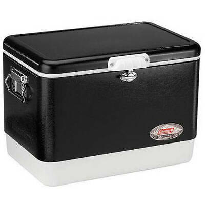 Coleman Portable 54 Quart Retro Classic Cooler Box Camping Black