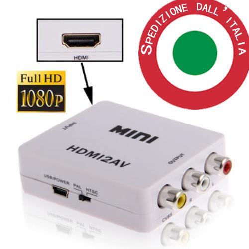 Adattatore VERO Convertitore video da HDMI a AV RCA Interfaccia HDMI2AV