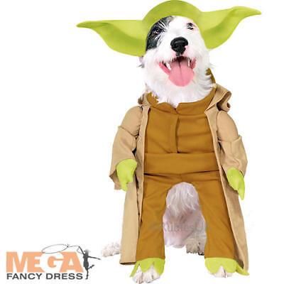 Yoda Puppy Costume (Yoda Dog Fancy Dress Star Wars Scifi Film Pet Puppy Animal Halloween Costume)