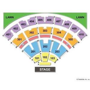 BLUE RODEO TICKETS FLOOR SECTION 102 row E