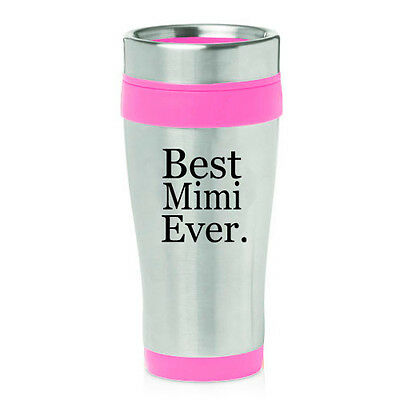 Stainless Steel Insulated 16oz Travel Mug Coffee Cup Best Mimi