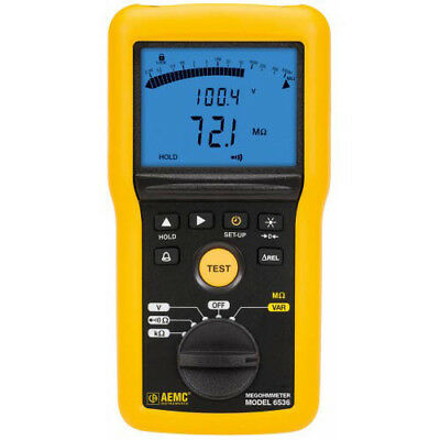 Aemc 6536 2155.56 Digital Megohmmeter 10v-100v Wbargraph Alarm