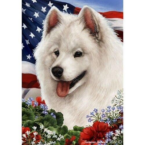 Patriotic (1) House Flag - Samoyed 16077