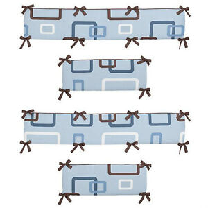 Baby Bumpers - Blue/Brown