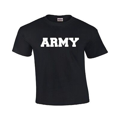 Army Military Physical Training PT T Shirt TEE