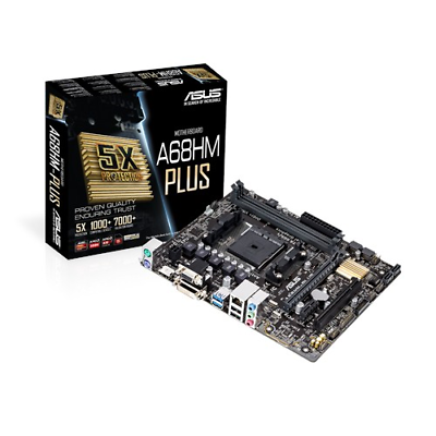 Asus A68hm-plus - Matx Motherboard For Amd Socket Fm2+ Cpus