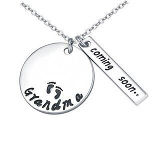 """COMING SOON..... GRANDMA"" Beautiful Silver Necklace Regina Regina Area image 1"